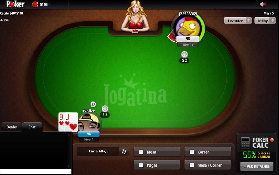 Poker Online Grátis agora com seus amigos no Jogatina!