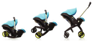 Car seat stroller bayi yang praktis untuk di mobil.