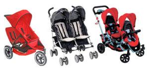 Double stroller untuk bayi kembar atau kakak beradik, sekali dorong asyiknya rame-rame. :)