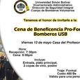 Cena de beneficencia a favor del Cuerpo de Bomberos Voluntarios de la USB