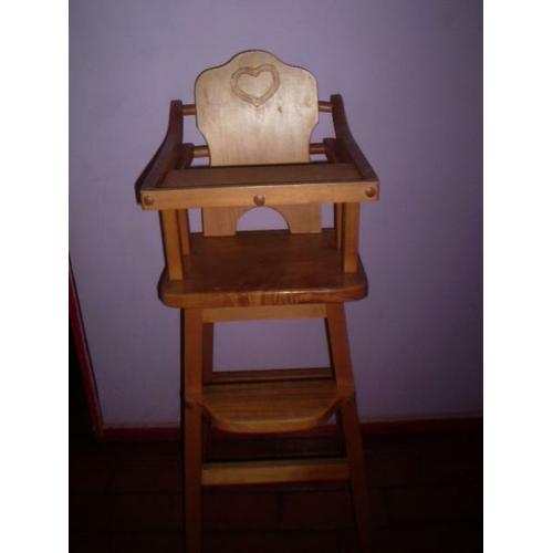 silla de comer para bebe en madera vendo por pictures