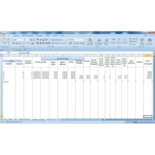 Plantilla Nomina En Excel Recibo De Pago Aplicaciones