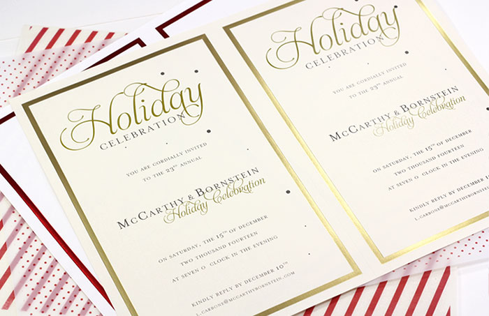 easyprint perforated cards for the holidays, invitation samples