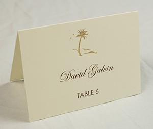 place card - Folded Place Cards