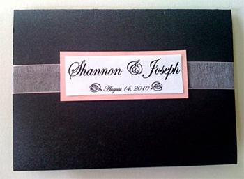 Shannon's Custom Pocket Fold Wedding Invitation 2