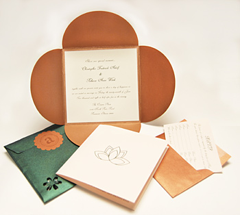 Rebecca's custom DIY wedding invitation