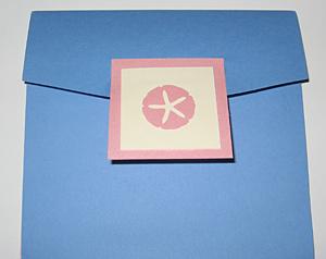Melissa's sea blue pocket fold