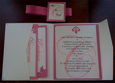 Mayra's Handmade Pocket Fold Wedding Invitation