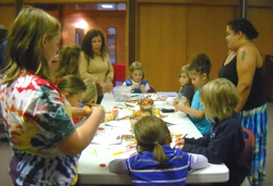 Girl Scout Christmas card making day for the troops 2