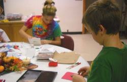 Girl Scout Christmas card making day for the troops 3