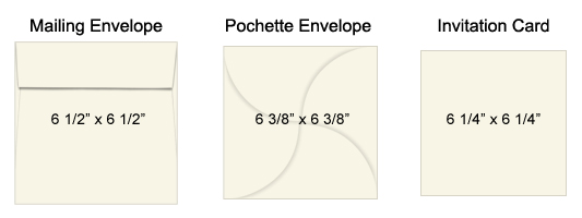 how to select invitation cards to fit your pochette