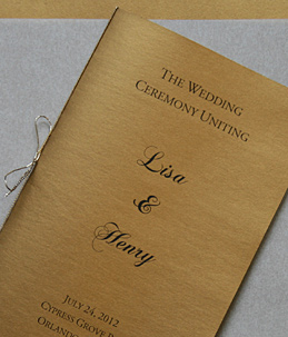 Stardream Antique Gold wedding program