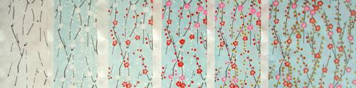 silk-screened chiyogami