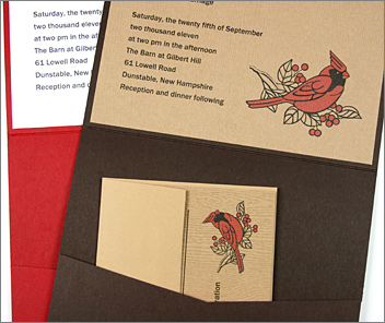 Limba & Tindalo wood grain invitations