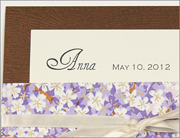 Savanna Glowing Makassar wood grain invitation