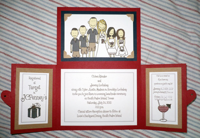 Coleen Klender's handmade wedding invitations