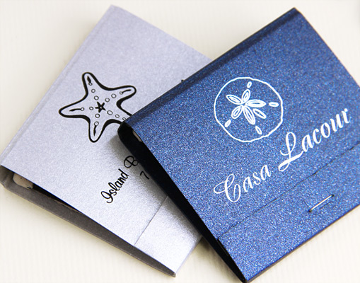 custom printed wedding matches made with Stradream paper