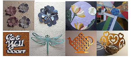 Variety of Designs created with specialty paper