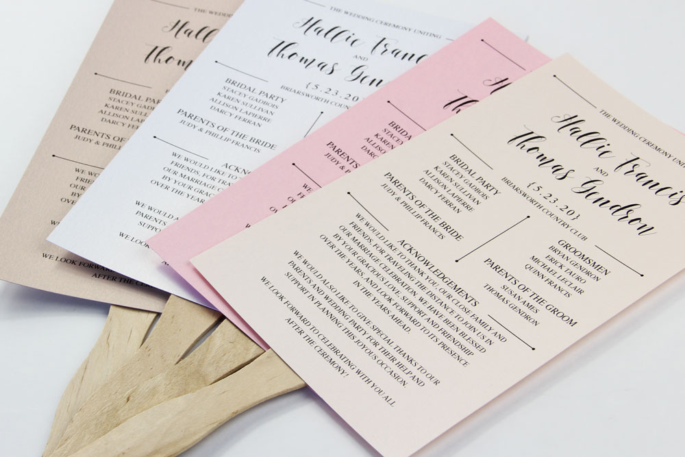 3 steps to a stylish wedding program fan