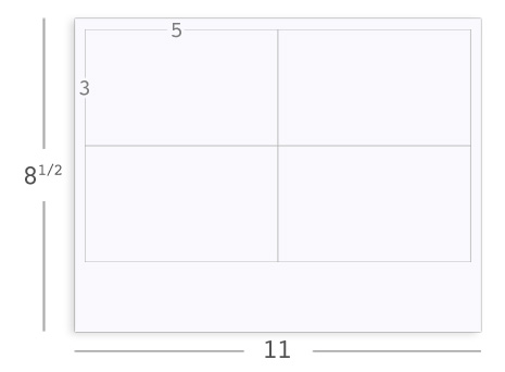 how to print 3x5 cards in word