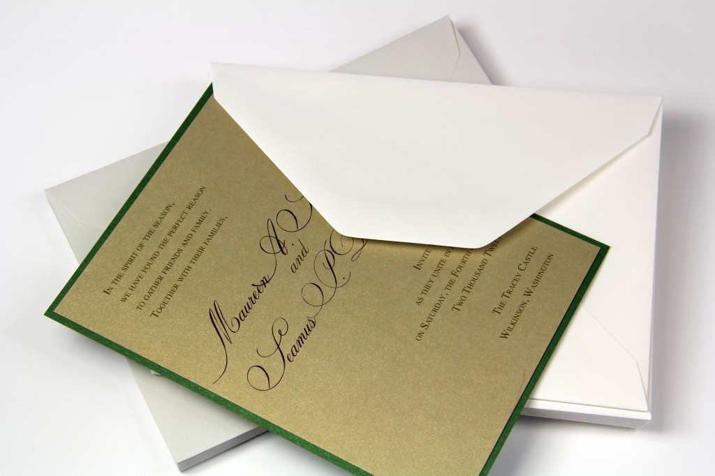 LCI Cotton Envelopes New Gray, Wedding White