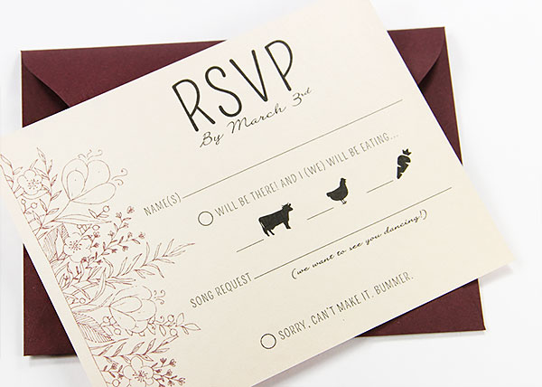 a2 rsvp card envelope for a little extra room