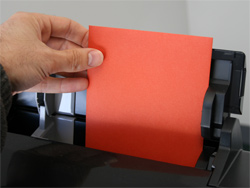 A7 envelope loading into printer