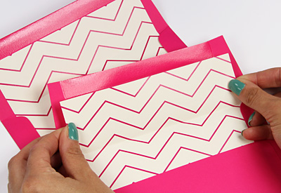Free Printable Chevron Envelope Liner & Invitation Design