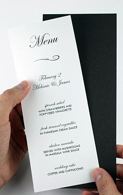 adhere menu cards