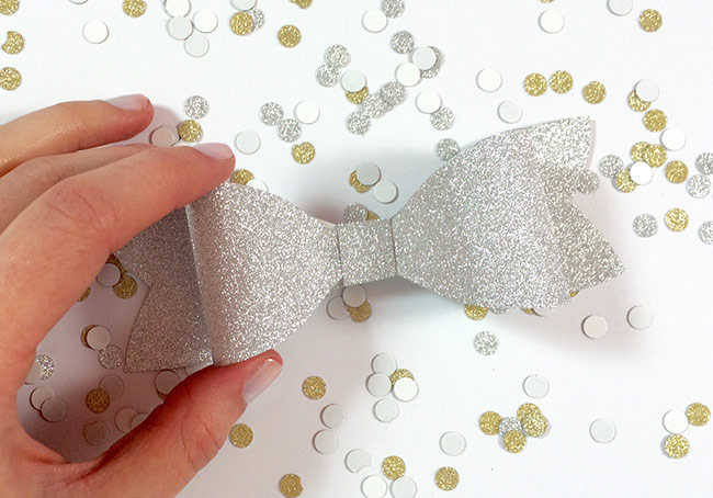 DIY Glitter Paper Bow By Allie Elle Step Instructions In Post