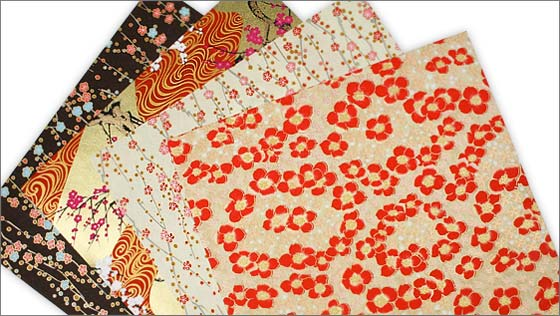 Array of Japanese Chiyogami paper