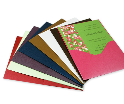 Array of metallic pocket cards