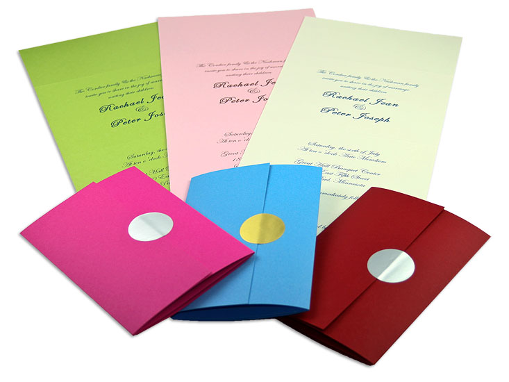 Array of Seal & Send Invitations
