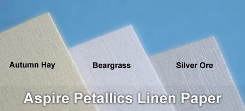 Aspire Petallics linen paper