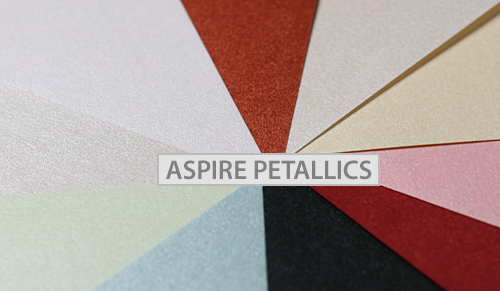 Aspire Petallics metallic paper array