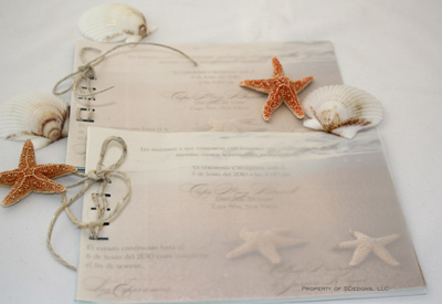 Layered Tied Beach Wedding Invitation See How Its Made