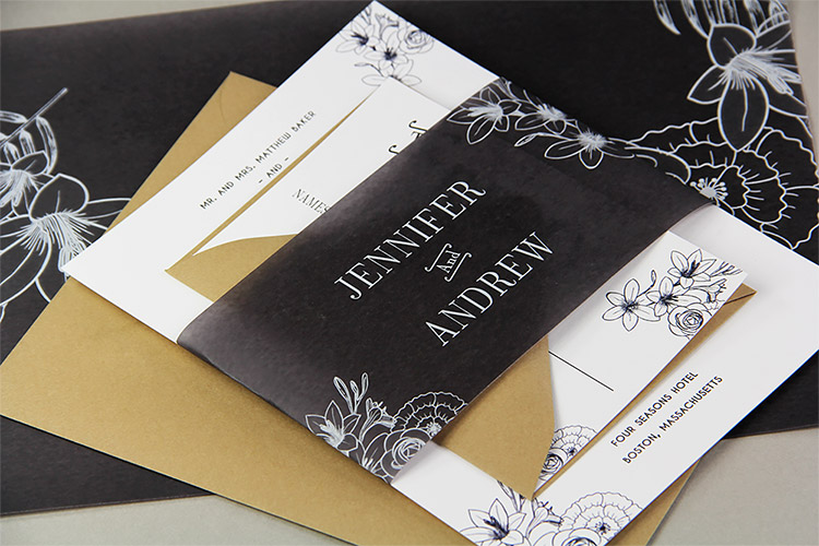 Black Vellum Invitation Design Ideas