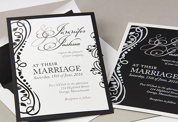 Wedding invitation trend colorful layers matching liners black and white layered wedding invitations with matching lined envelopes filmwisefo
