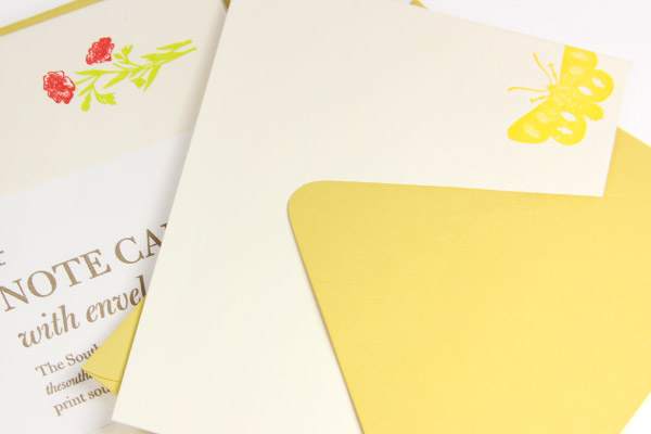 Southern Letterpress uses Gmund Colors for her cards