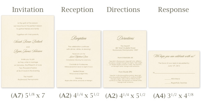 Wedding Invitations Sizes: Make Your Own Tissue Wrapped Wedding Invitation Ensemble