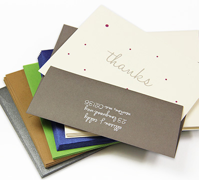 Colorful envelopes and matching paper