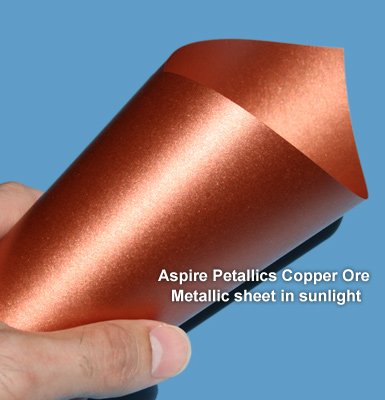 Copper Ore Aspire Petallics paper