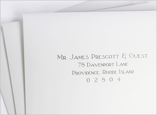 Addressing wedding envelopes calligraphy or printing machine printed and addressed wedding envelopes how its done thecheapjerseys Gallery
