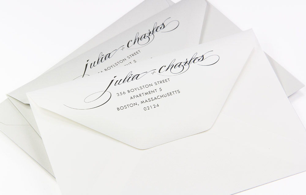 invite inspiration elegant custom printed cotton envelopes