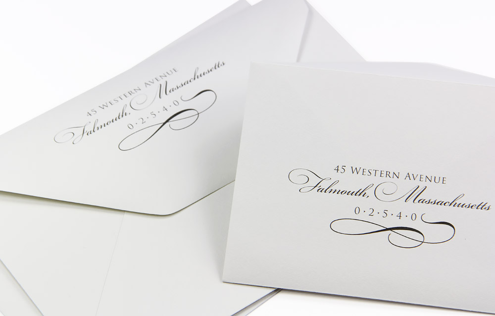 a1 and a7 gmund new grey cotton envelopes printed with custom design
