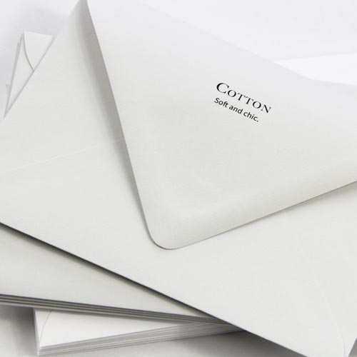 Elegant, classic 100% cotton envelopes. Order in white or gray from LCIPaper.com