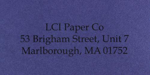 curious metallics blueprint sample printed envelope