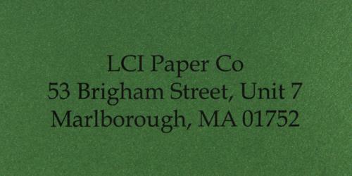 curious metallics botanic sample printed envelope