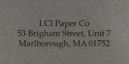 curious metallics ionised sample printed envelope