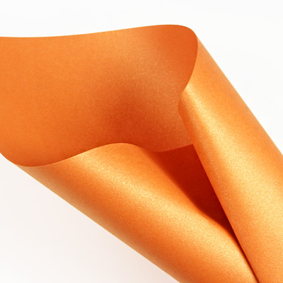 Curious Metallics Mandarin - orange metallic paper